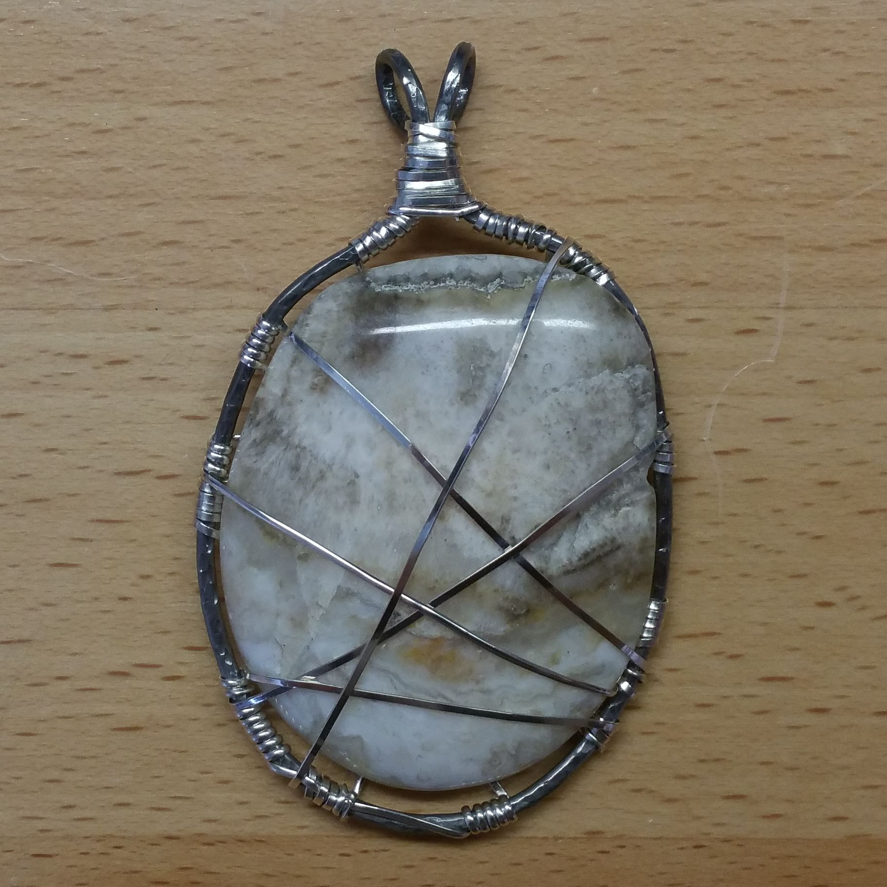 Silver and White Pendant
